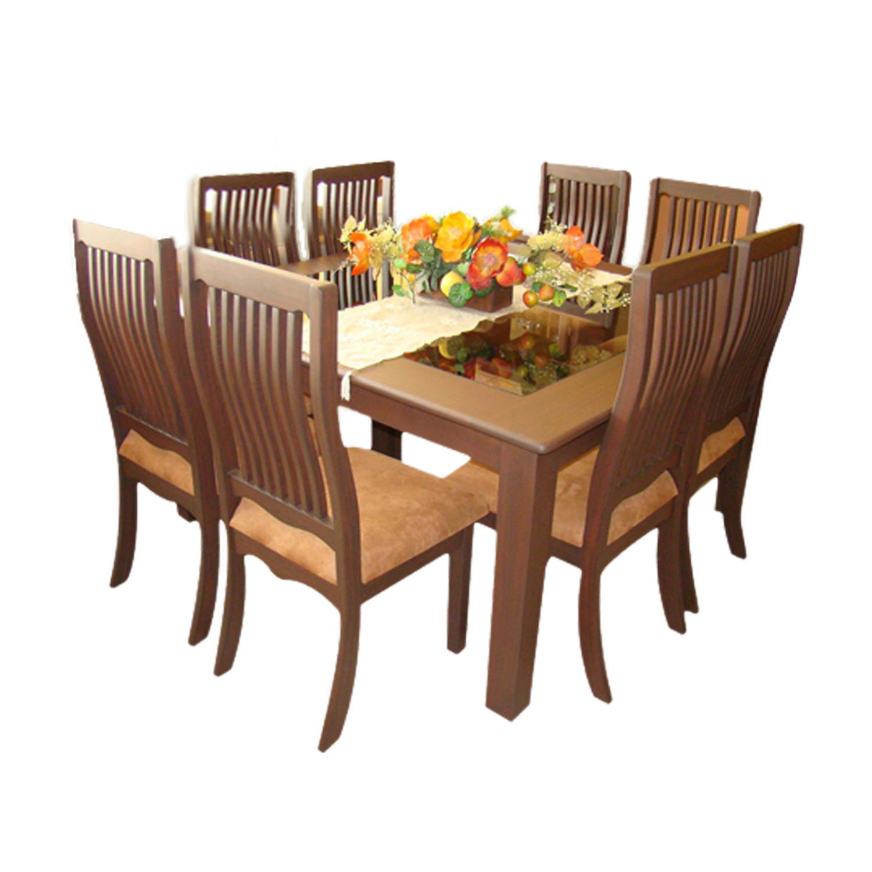 Comedor cuadrado 8 sillas anat mico muebles leiva for Catalogos de sillas de comedor